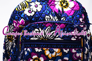 vera bradley 2014 秋 アフリカンバイオレットCampus Backpackキャンパスバックパックキタ♪