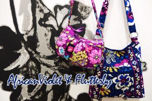 新柄 AfricanVioletアフリカンバイオレットHipster & Flutterby Frannie 2個持ち!
