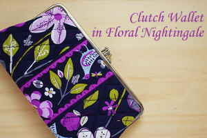 Clutch Wallet Floral Nightingale 友人の誕生日プレゼントにしました♪