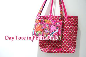 Day ToteデイトートPetite Pink PinkSwirle 裏地柄 日本未発売