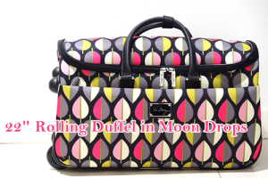 22″ Rolling Duffel in Moon Drops