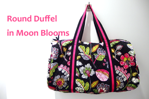 Round Duffel in Moon Blooms