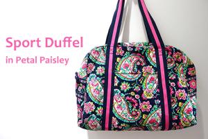 Sport Duffel in Petal Paisley ジム用バッグに愛用中