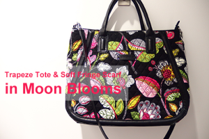 Trapeze Tote in Moon Blooms & Soft Fringe Scarf in Moon Blooms