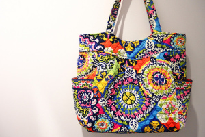 Pleated Tote in Rio 2015春柄可愛い★着画あり