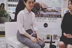 ココオーガニックのトークイベント、ヒカリエにきてますー #COCO_ORGANICS